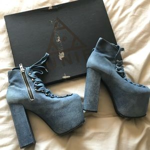 UNIF blue suede Hellbounds